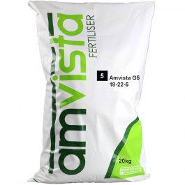 Amvista G5 Long Life Fertiliser 20KG (18-22-5) for younger grass