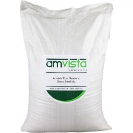 Amvista Four Seasons Grass Seed 10kg -medium wearing lawn with cold start germination