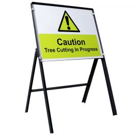 Tree Cutting in Progress Warning Safety Sign