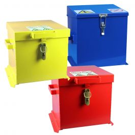Lockable Steel Chemical Safe - 15L Capacity