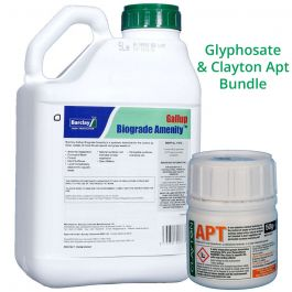 Clayton Apt 50g + Gallup Biograde Amenity 5L - Long lasting residual with glyphosate bundle