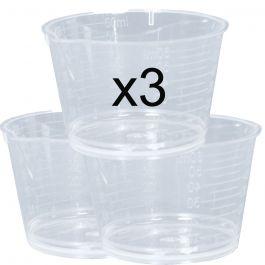 3x Measuring Cups 60 ml
