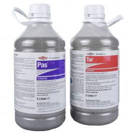 Pas Tor Twin Pack 2x2L - Powerful General Grassland Weedkiller