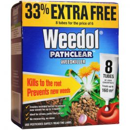 Weedol Pathclear 8 TUBES -Contact & Long-Lasting Weedkiller