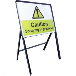 Spraying in Progress Warning Safety Sign