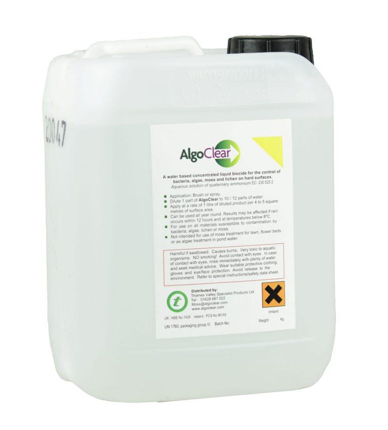 ALGOCLEAR 5L - HARD SURFACE MOSS & ALGAE CONTROL